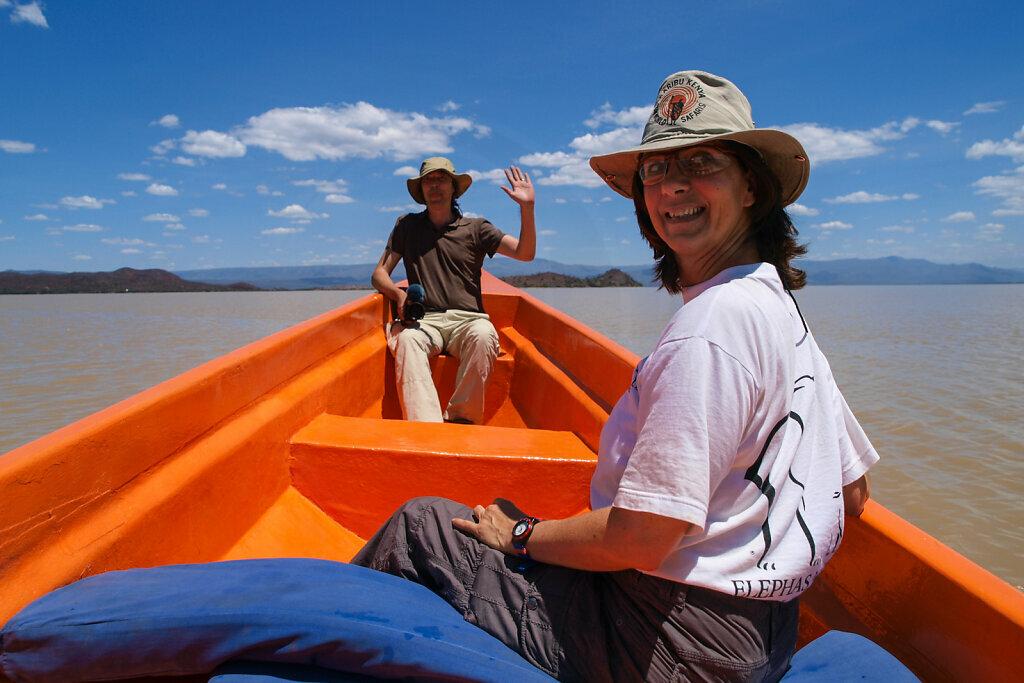 Crossing Lake Baringo