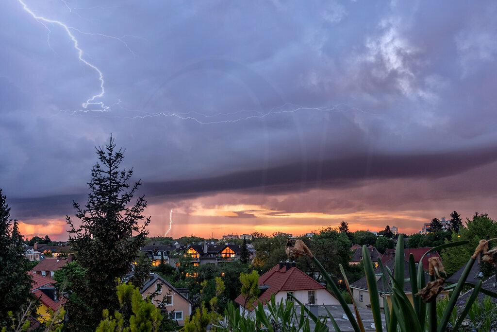 Thunderstorm at Sunset II