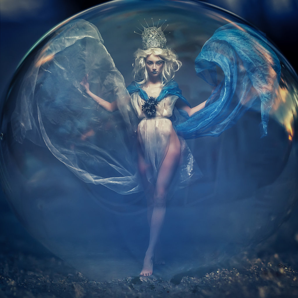 Ice Princess in a Bubble