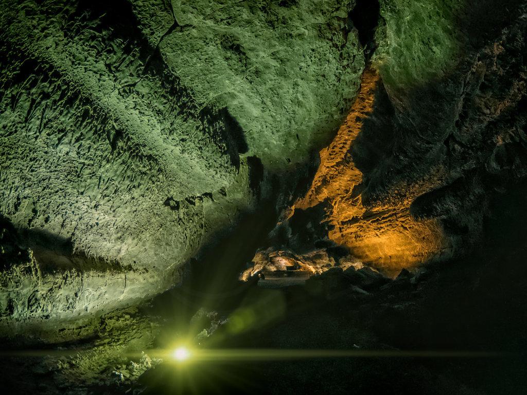 Lit Up Lava Tube