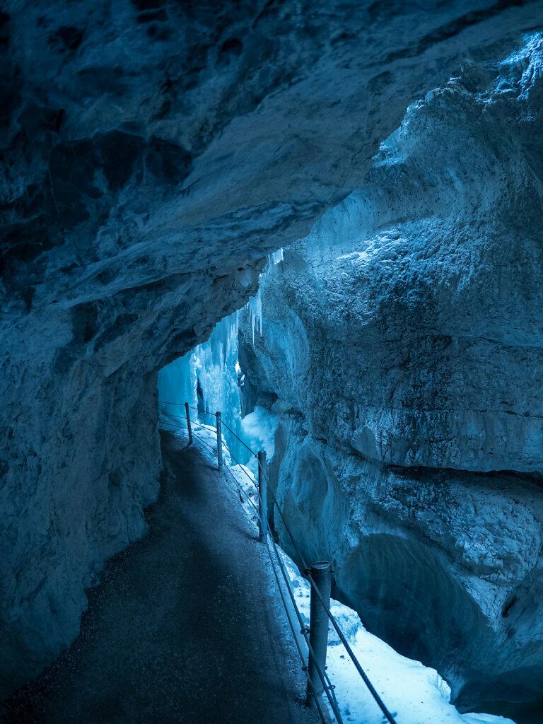Through ice and stone