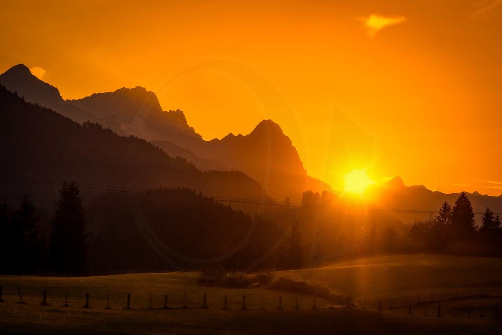 Zugspitz Sunset